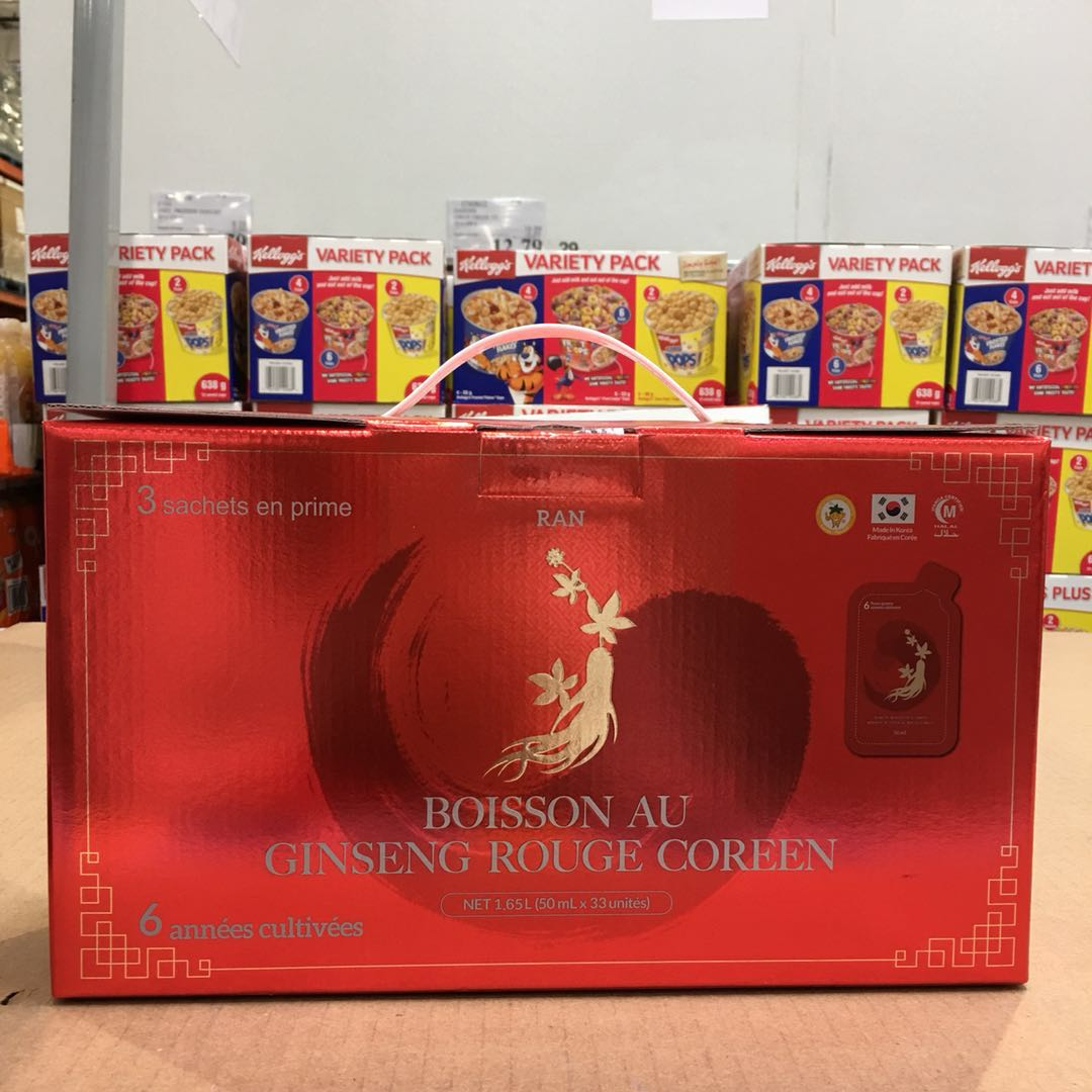 RAN 参茶高丽其它红茶 55ml 袋× 30 惊爆加拿大盒装包装营养滋补