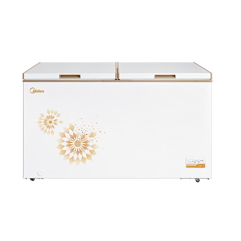 顶开双门单温深冷冻藏商用家用冰柜冰箱 428DKEM BC BD 美 Midea