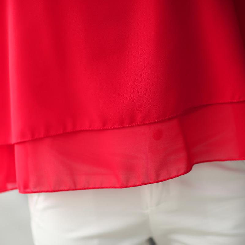 夏季新款大码宽松雪纺背心吊带女双层打底无袖上衣外穿短款雪纺衫