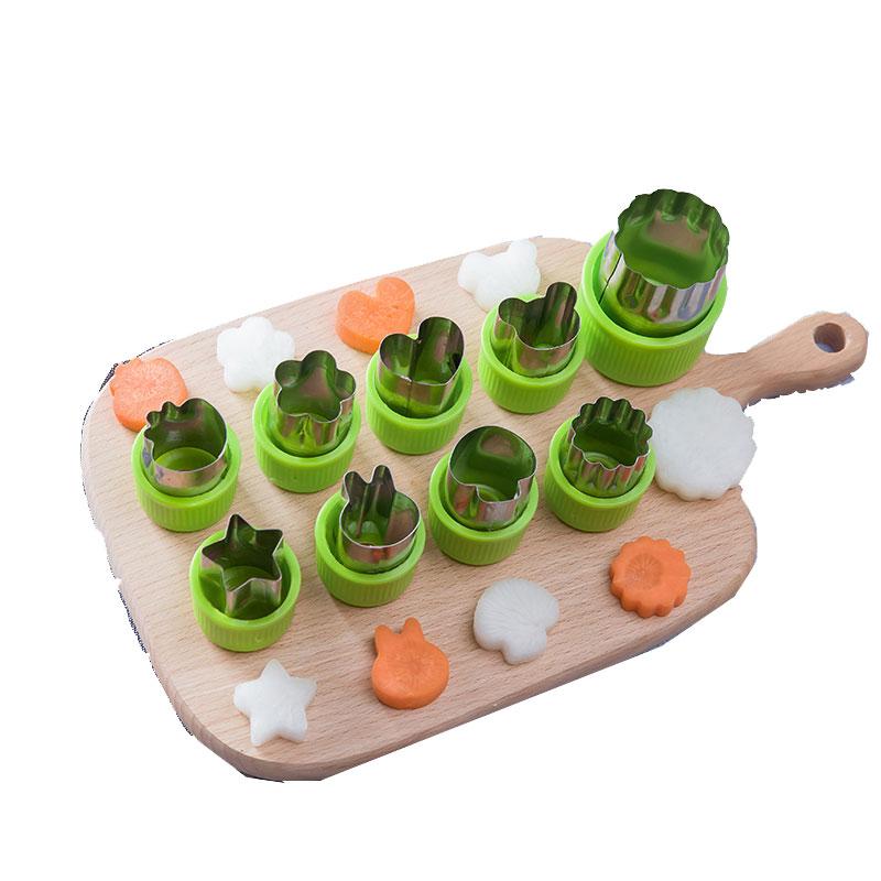 不锈钢蔬菜切花器爱心水果造型压花刀面片蝴蝶面切模黄瓜花样工具