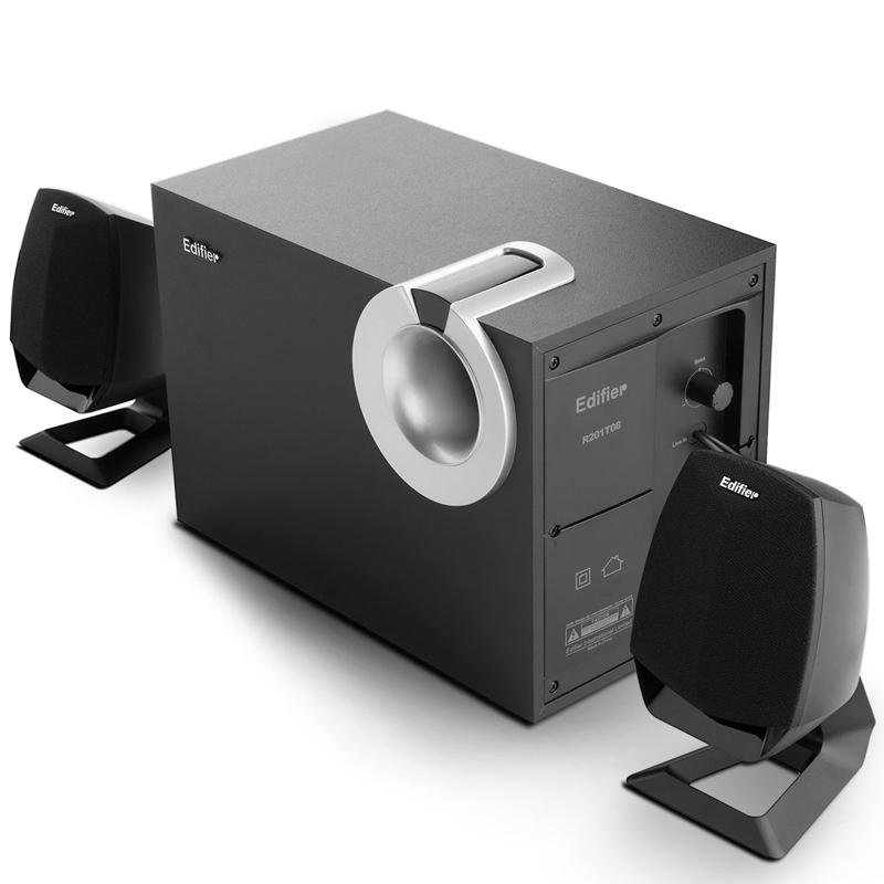 Edifier/漫步者 R201T08台式电脑音箱家用有源功放超重低音炮音响
