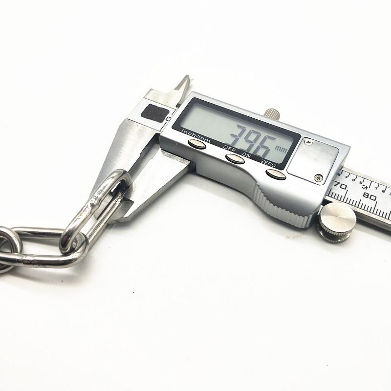 安达304不锈钢链条 铁链子晾衣绳晒衣链护栏链吊灯链狗链4毫米粗