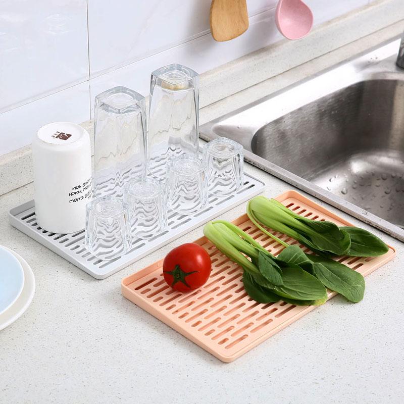 雙層鏤空水杯瀝水盤廚房杯子托盤家用塑料蔬菜置物架收納架