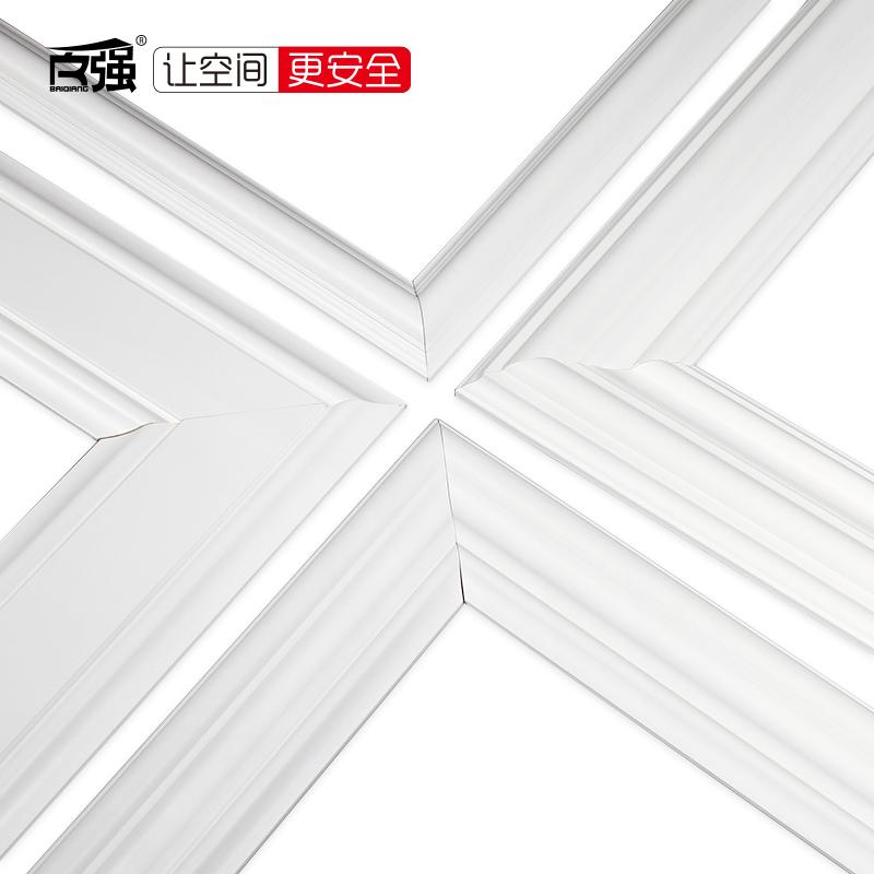 实木线条装饰木线条白色石膏吊顶线欧式客厅电视背景墙边框造型