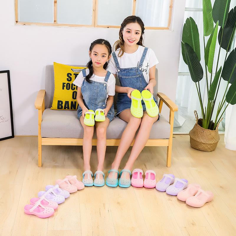 2019新款儿童洞洞鞋夏季女童鞋子韩版中大童宝宝拖鞋果冻沙滩凉鞋