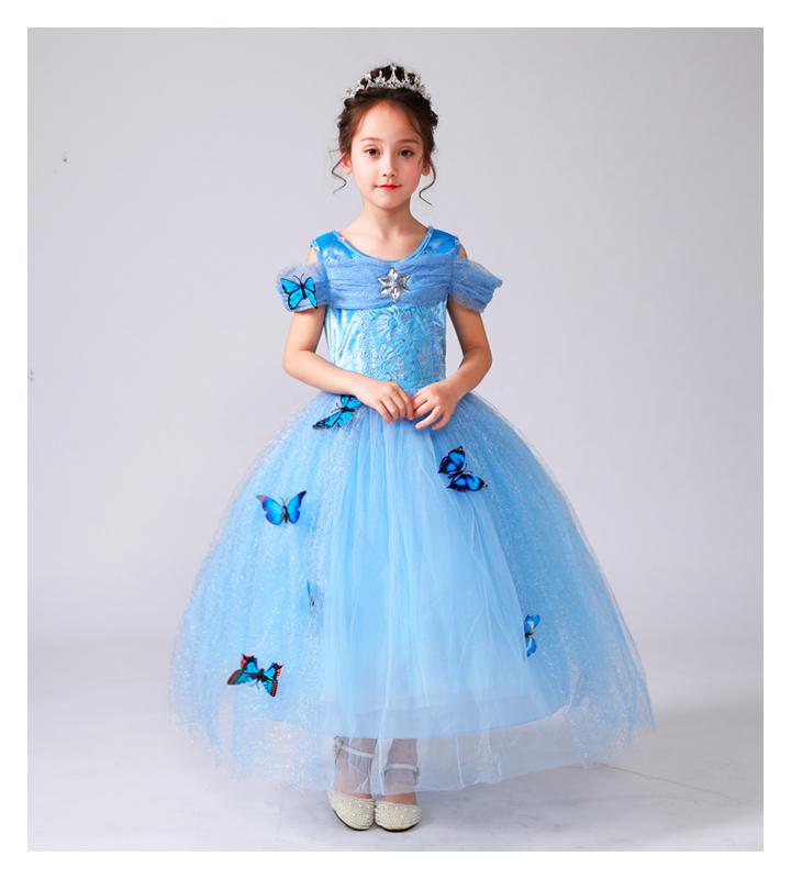 灰姑娘裙子女童春装爱莎爱沙艾莎连衣裙儿童装女孩冰雪奇缘公主裙