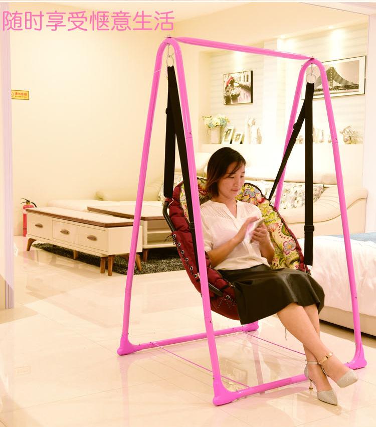 婴儿吊床儿童家用室内摇篮椅宿舍阳台吊椅单人户外秋千室内摇篮