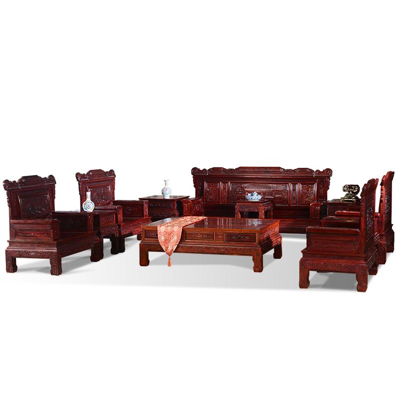 古味居 非洲酸枝客厅实木沙发组合 兰亭序沙发红木古典家具 SS7