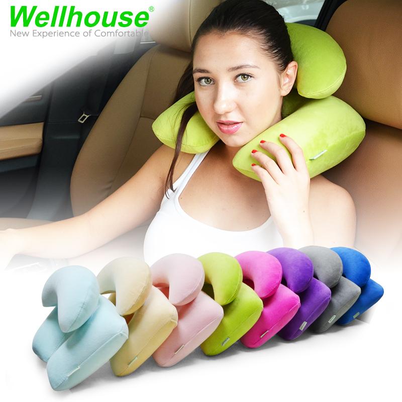 旅遊三寶旅行充氣枕 u型枕 天鵝絨雙層 子母枕 午休枕 飛機護頸枕