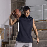 Si Bote sports vest summer new men's outdoor sportswear breathable big yards loose sleeveless hooded sweater