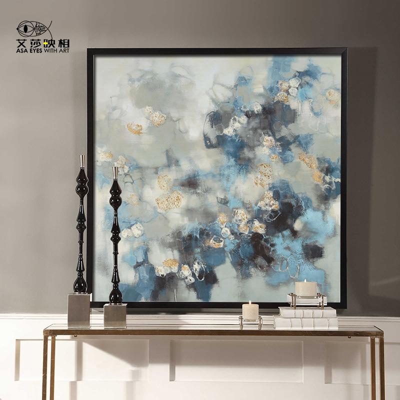 艾莎手繪油畫當代簡約輕奢客廳抽象裝飾畫玄關畫餐廳走廊掛畫定制