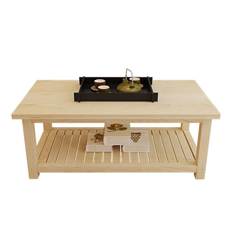 定制全實木茶幾客廳茶幾小戶型茶桌長方形小桌子簡約現代實木桌子