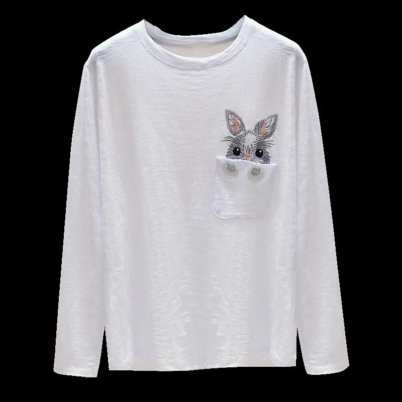 2020年秋季装新款韩版宽松长袖t恤
