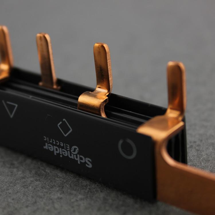施耐德汇流排3P12位接线排12回路 连接铜排可接4个3P空开 A9XPH3