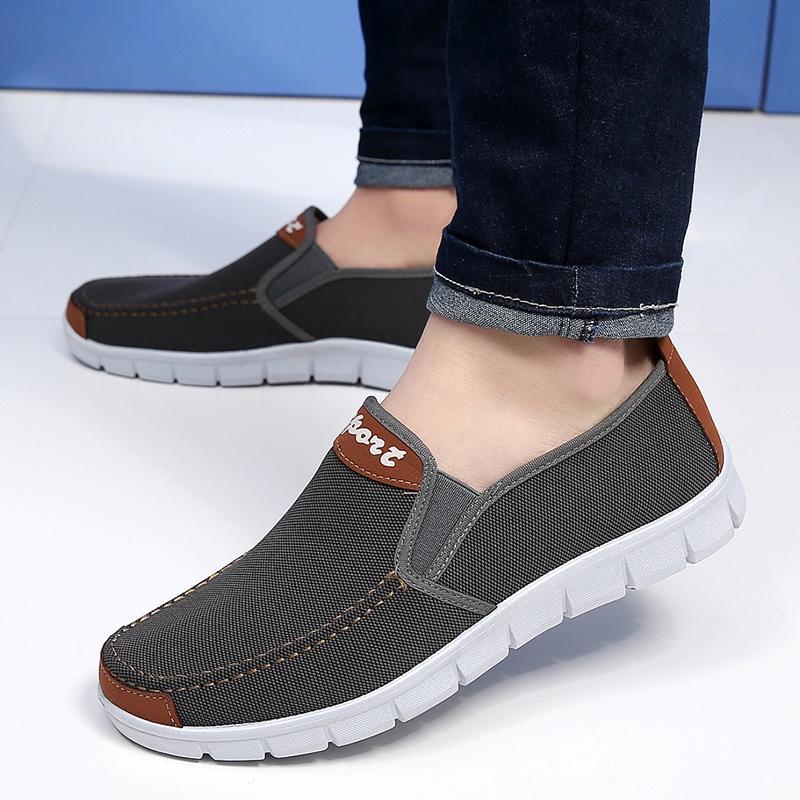 【老北京布鞋】男士帆布厚底休闲鞋