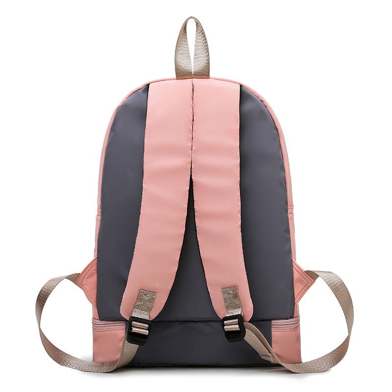 新款时尚健身双肩包女背包多功能外出包电脑书包校园包防水旅行包