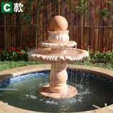 Aizhi Marble Feng Shui Ball Garden Outdoor Garden Stone Carving Fountain Water Decoration Villa Decoration Waterscape Sculpture