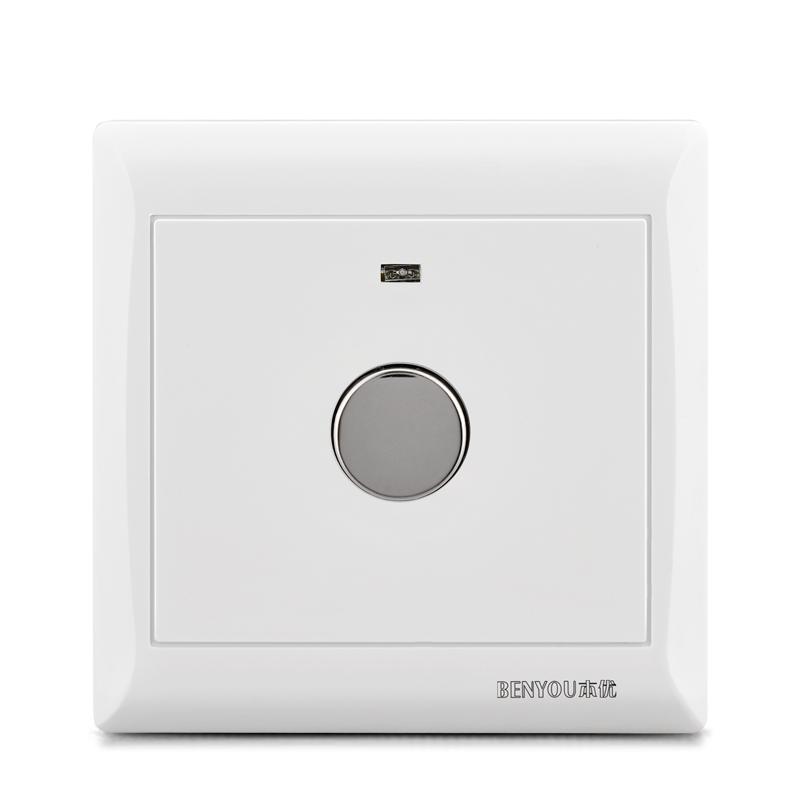 本优86型暗装触摸开关人体感应智能延时家用触控面板楼道控led灯
