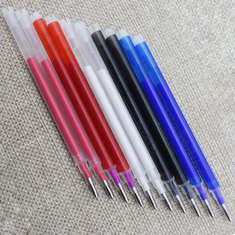 高温自动消失笔芯褪色笔退色笔蓝色白色红色服装皮革专用100支装