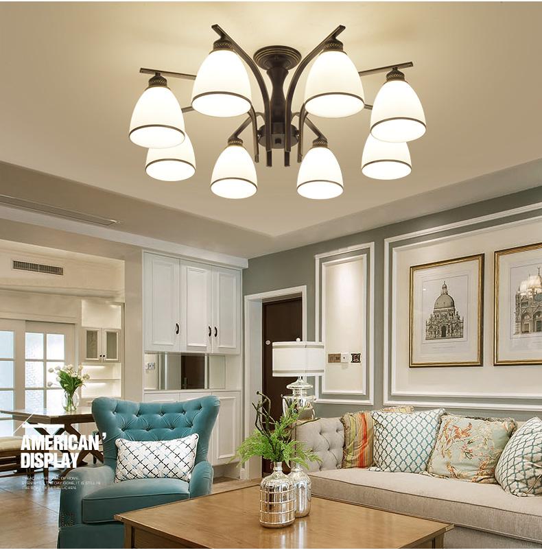 美式客厅吊灯大气现代简约卧室魔豆分子吊灯欧式田园乡村复古餐厅