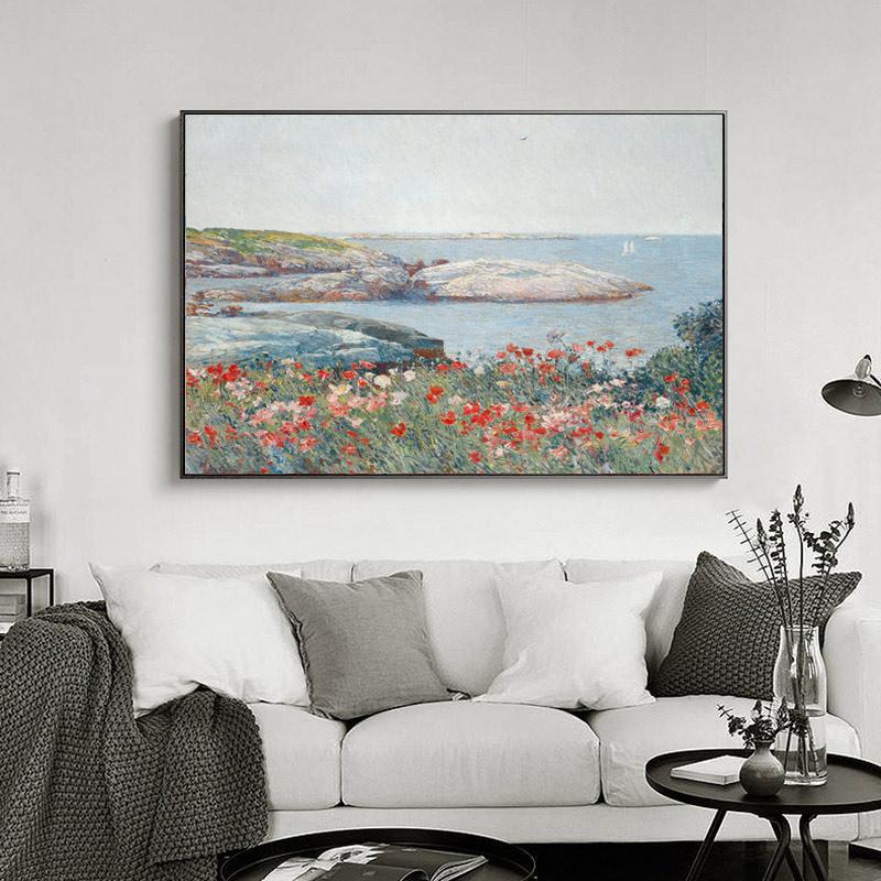 花卉風景抽象裝飾掛畫壁畫餐廳無框畫油畫玄關走廊裝飾畫風景畫