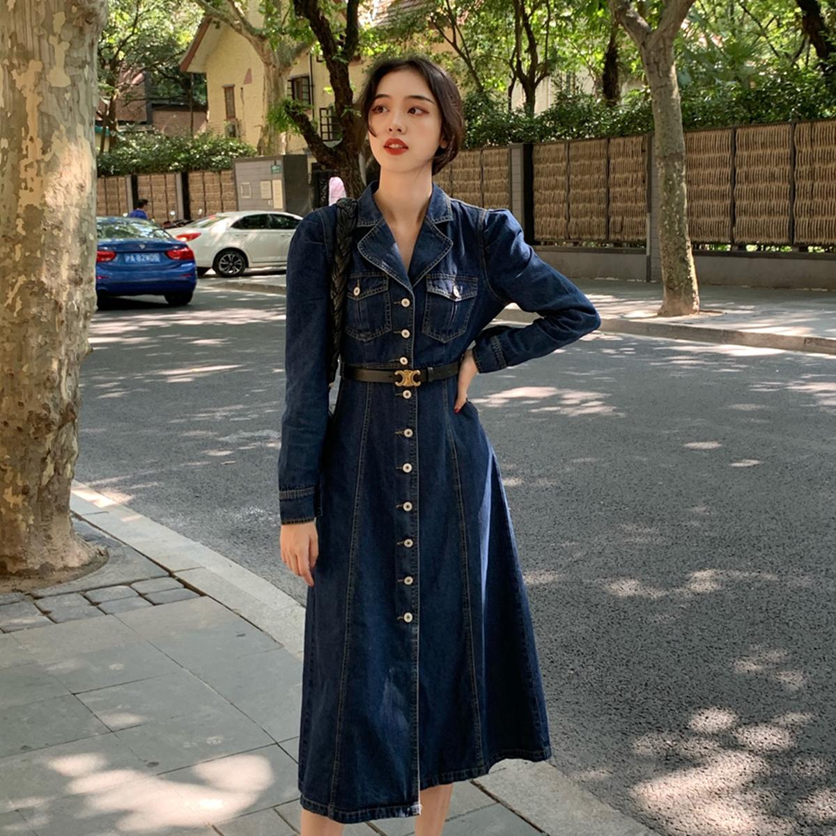 裙秋季新款长袖裙子女