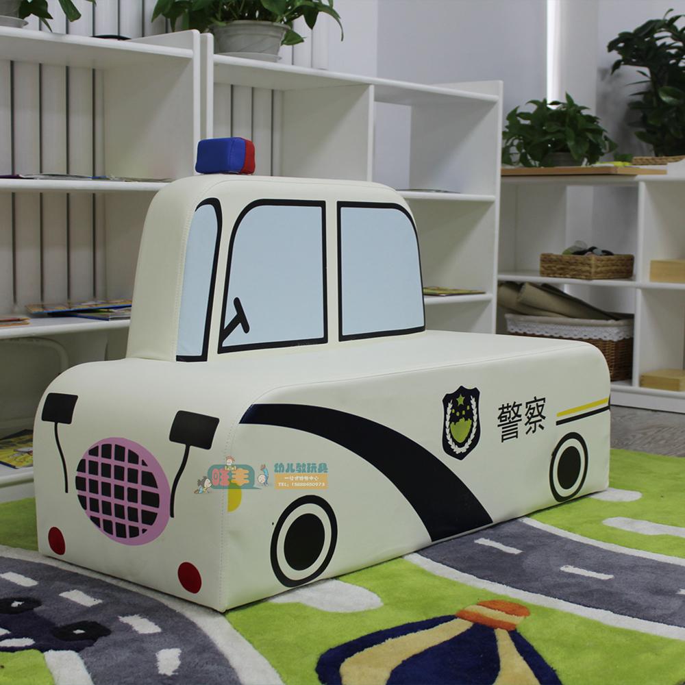 幼儿园早教中心 软体扶手儿童沙发椅 托马斯 校车警车沙发组合