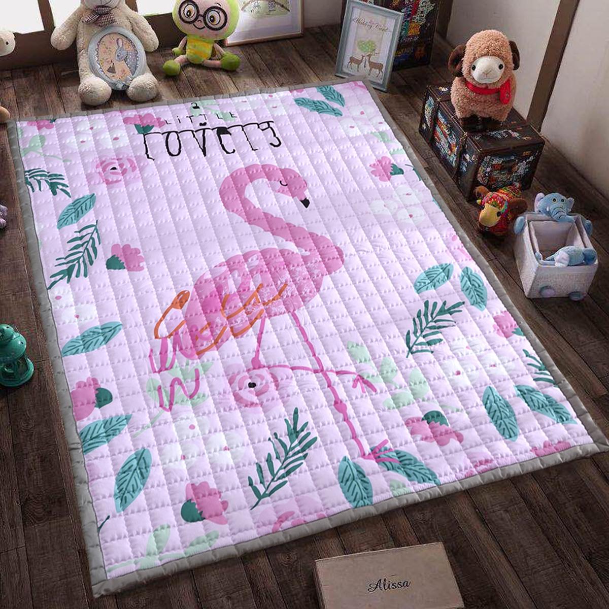 全棉环保加厚宝宝爬行垫儿童爬爬垫折叠地垫防滑机洗家用卧室客厅