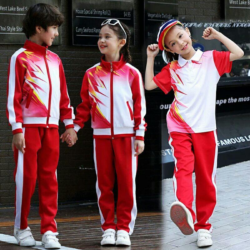 幼儿园园服春秋夏2021新款英伦小学生校服儿童运动会班服三件套装