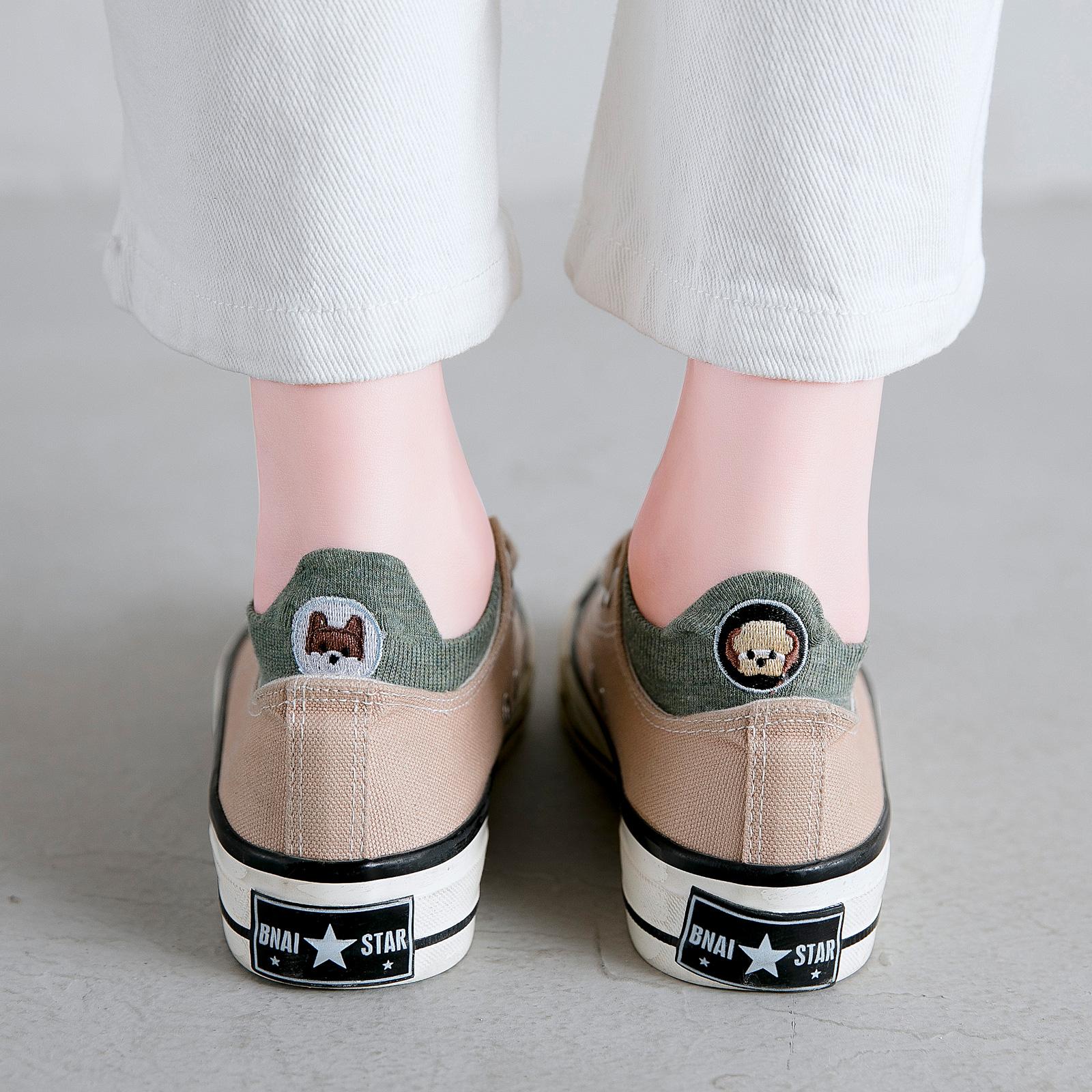 潮中筒秋季可爱日系女生搞怪夏季纯棉船袜 ins 袜子女短袜浅口韩国