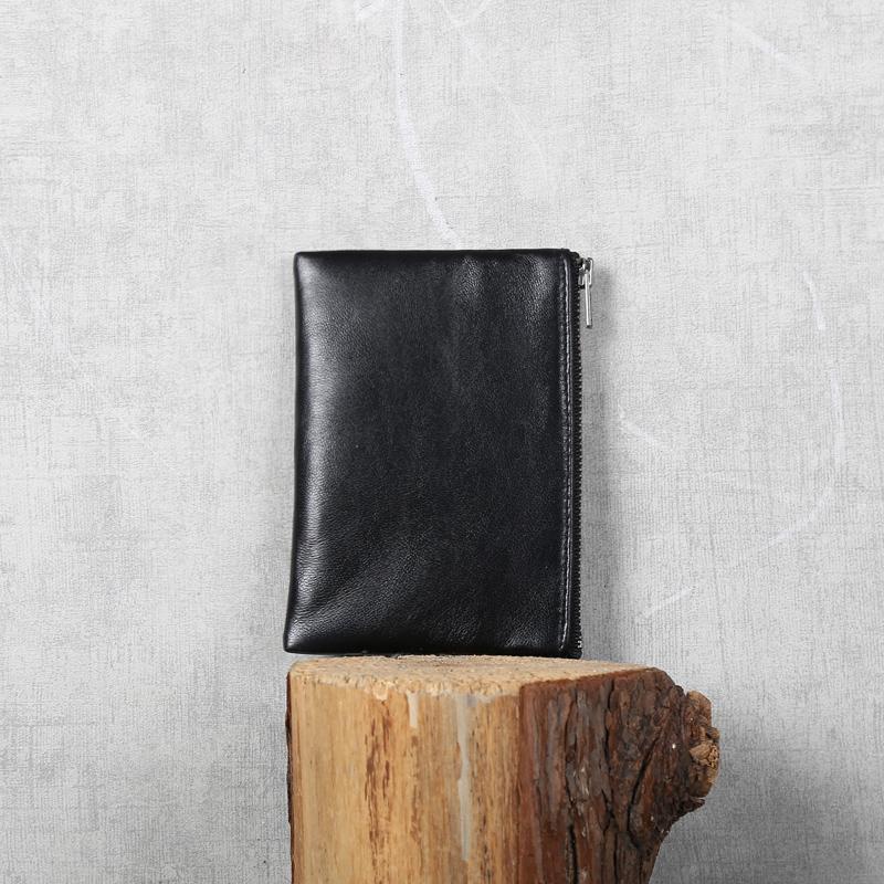 深山九处原创设计绵羊皮零钱包钱包钱夹卡包情侣款