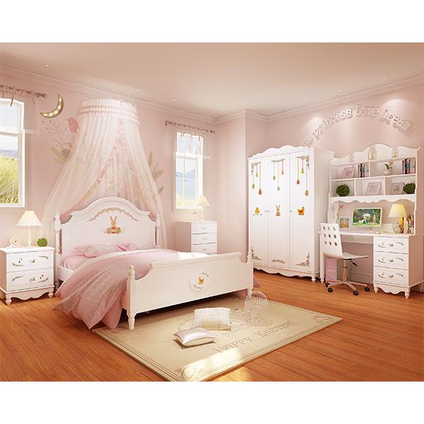 酷漫居 韩式床田园床欧式床儿童床公主床1.5米单双人床卧室套房