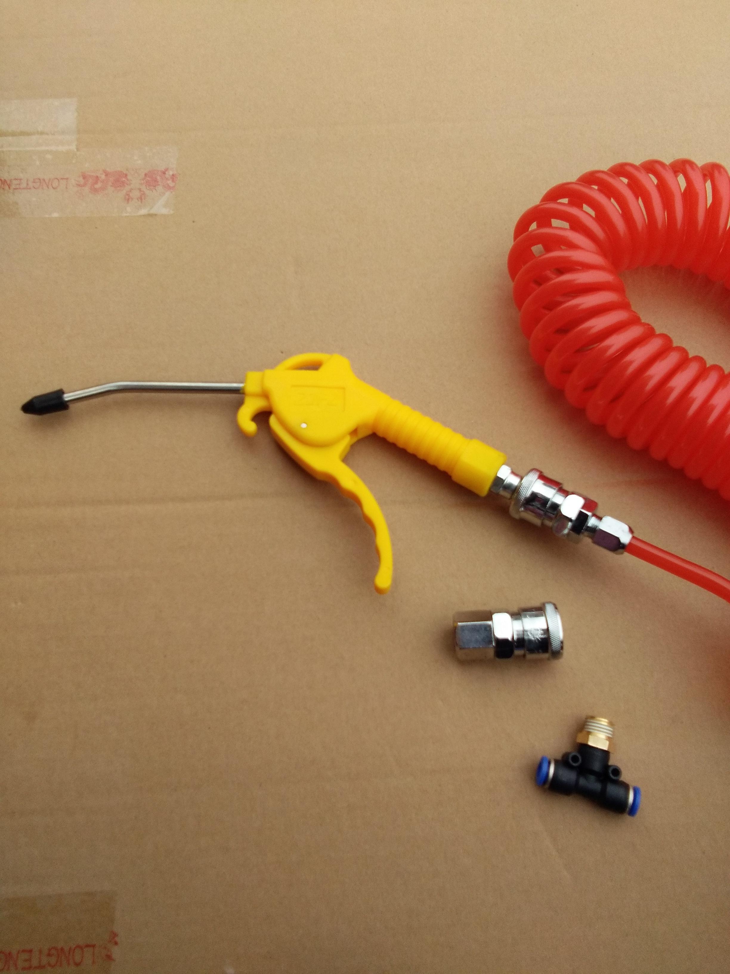 货车吹尘枪高压气管弹簧管吹风枪 汽车除尘气器除尘枪车用吹尘器