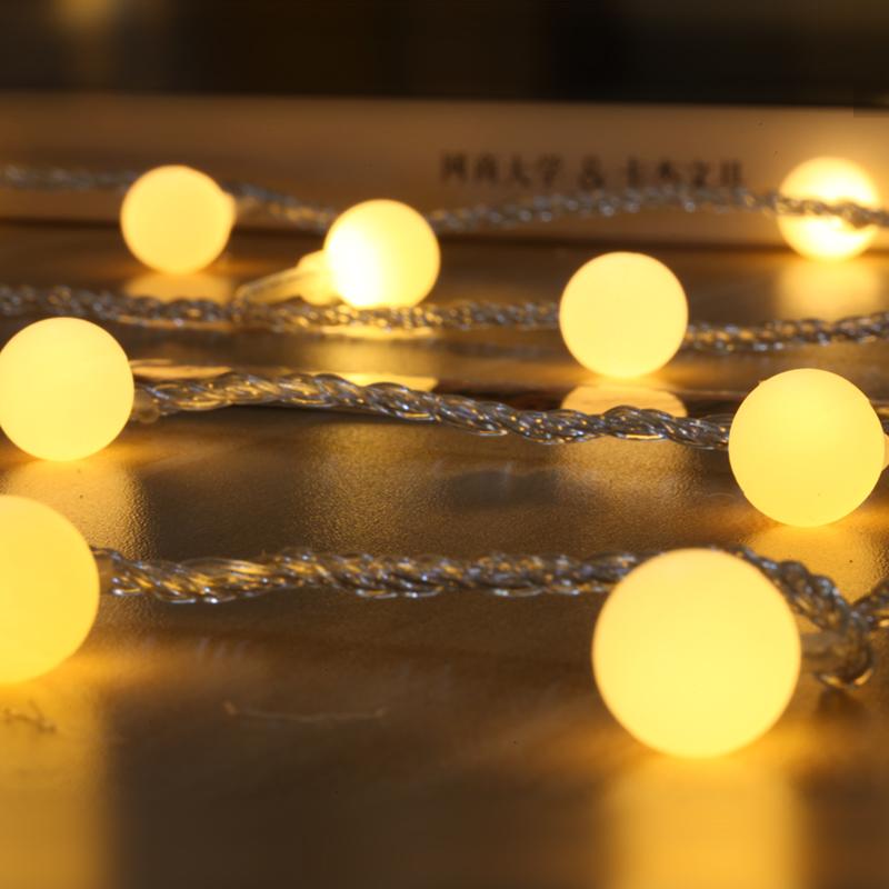 网红房间ins装饰星星灯串生日惊喜布置圆球灯彩灯闪灯串灯满天星