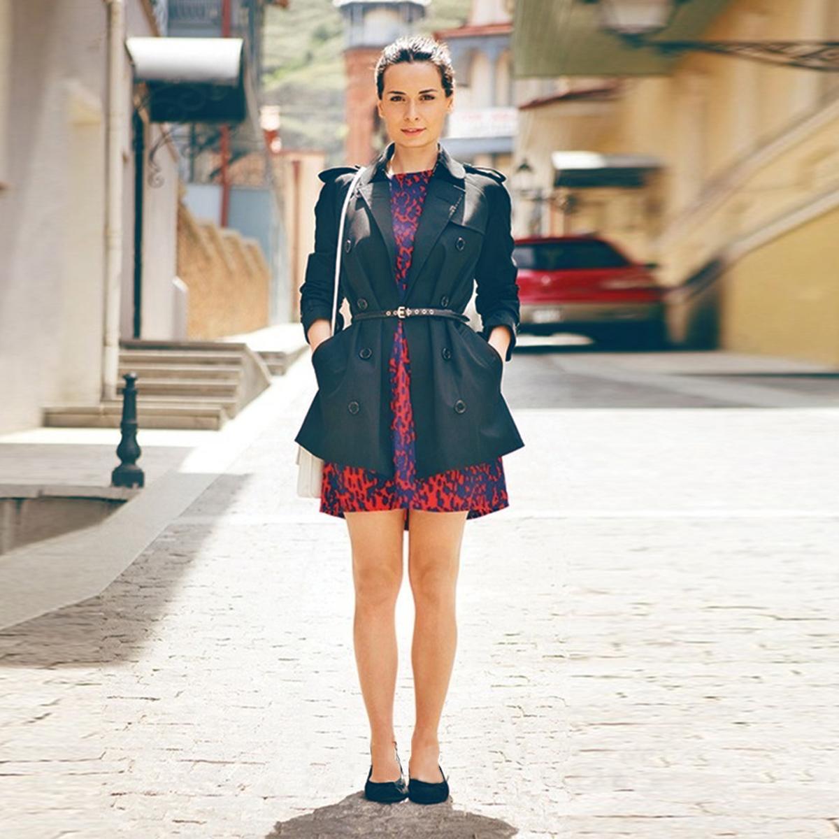 欧美经典英伦风秋季外套帅气百搭修身显瘦棉质防水双排扣短款风衣