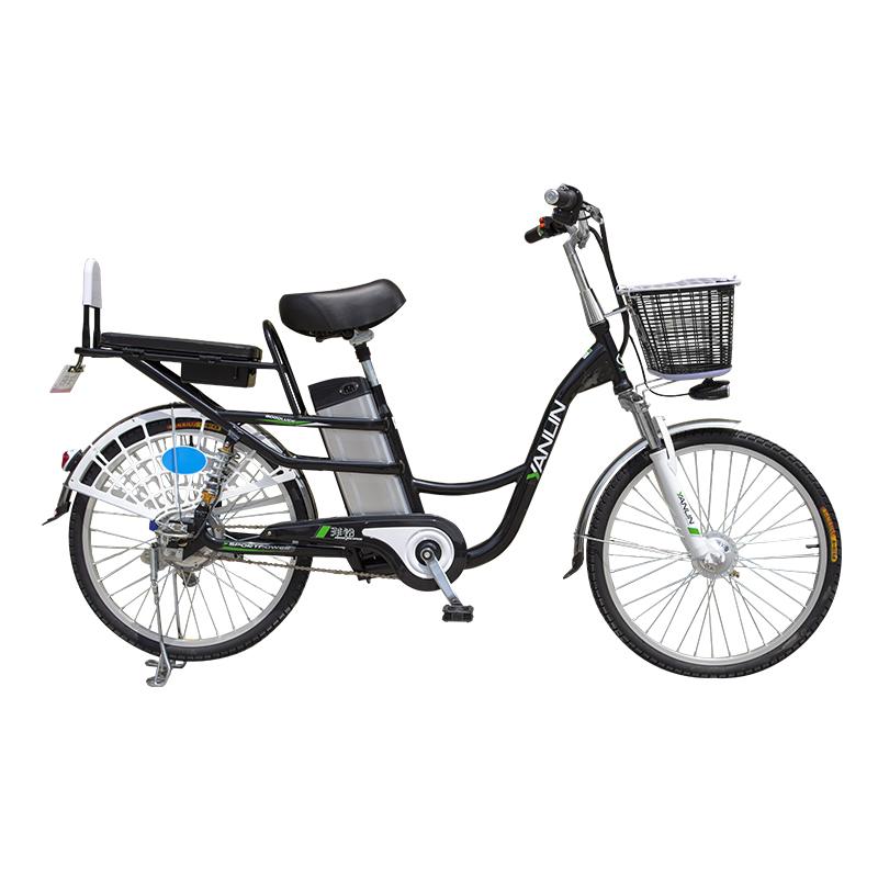洋铃电动自行车 锂电24寸48V成人电瓶车锂电池助力车代步车外卖车