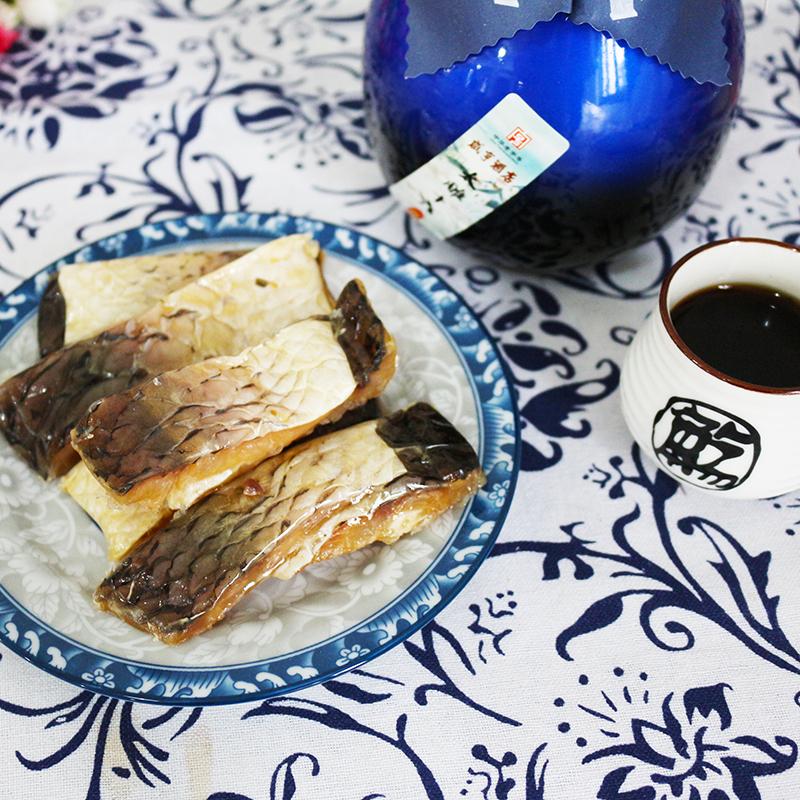休闲小吃零食开袋即食 1kg 浙江绍兴咸亨酒店土特产咸亨牌醉鱼干