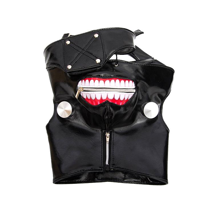 东京食尸鬼面具金木研面具口罩喰种面罩cos假发道具