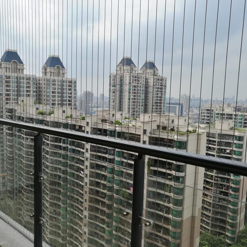 阳台隐形防盗网儿童安全护栏316钢丝防护网防盗窗珠三角上门安装