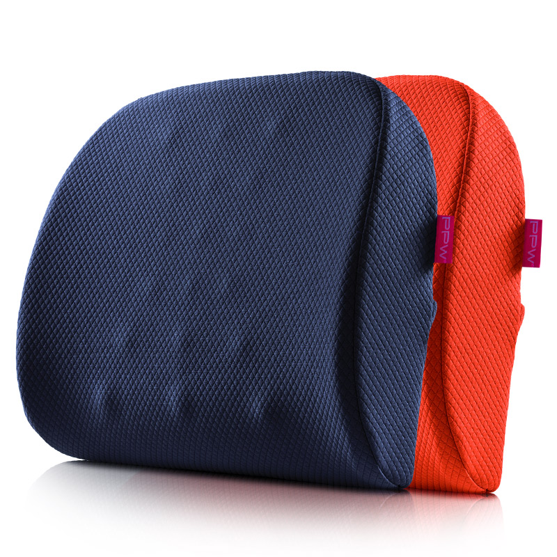 PPW靠垫办公室腰靠记忆棉腰枕汽车座椅靠背孕妇腰垫护腰靠枕夏硬