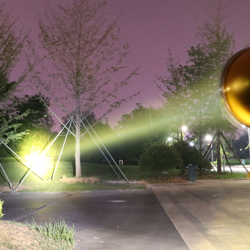 头盔灯野鸡兔黄红光打猎灯 200W 瓦 55 疝气探照灯 12V 强光氙气狩猎灯