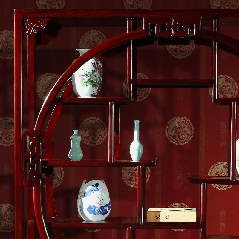 攀峰红木博古架南美酸枝木福字多宝阁古典新中式全实木古董架家具