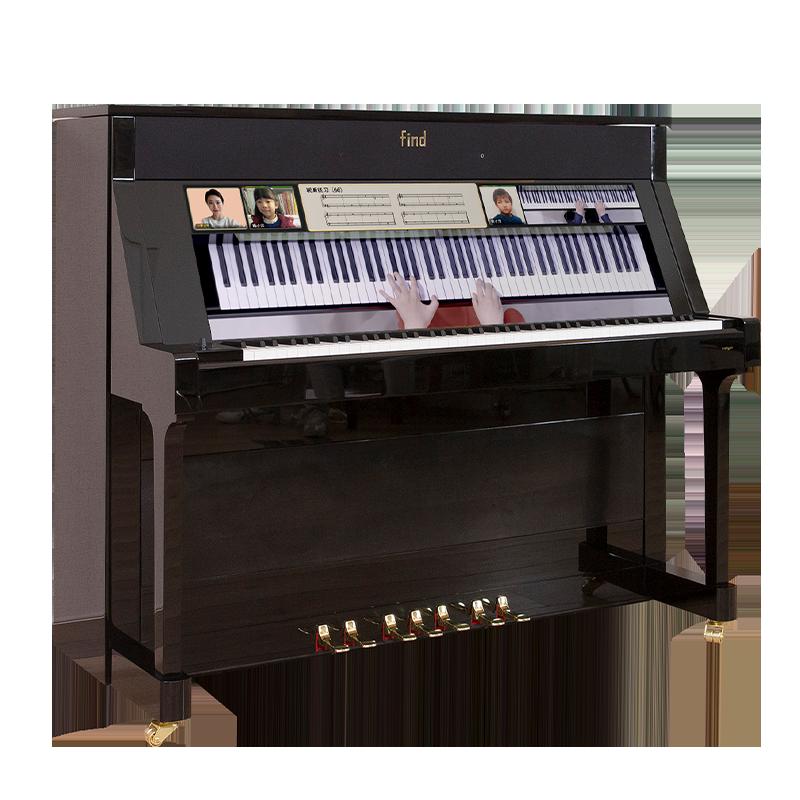 可戴耳机 静音系统 自动演奏 UF122C 智慧原声立式钢琴 uFind