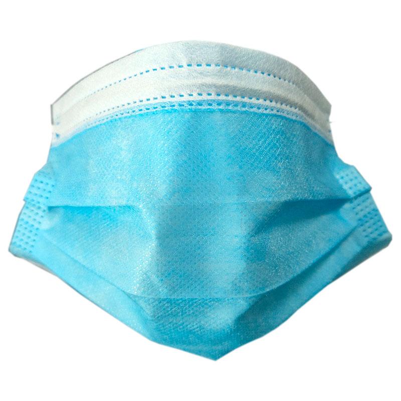 现货一次性囗罩三层加厚50只防尘飞絮花粉透气面罩熔喷布过滤层