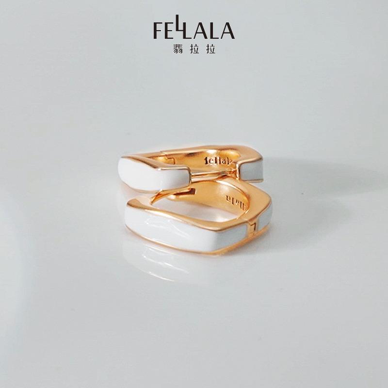 年新款耳环复古耳饰小众高级感气质耳扣耳圈女 翡拉拉  Fellala 2021
