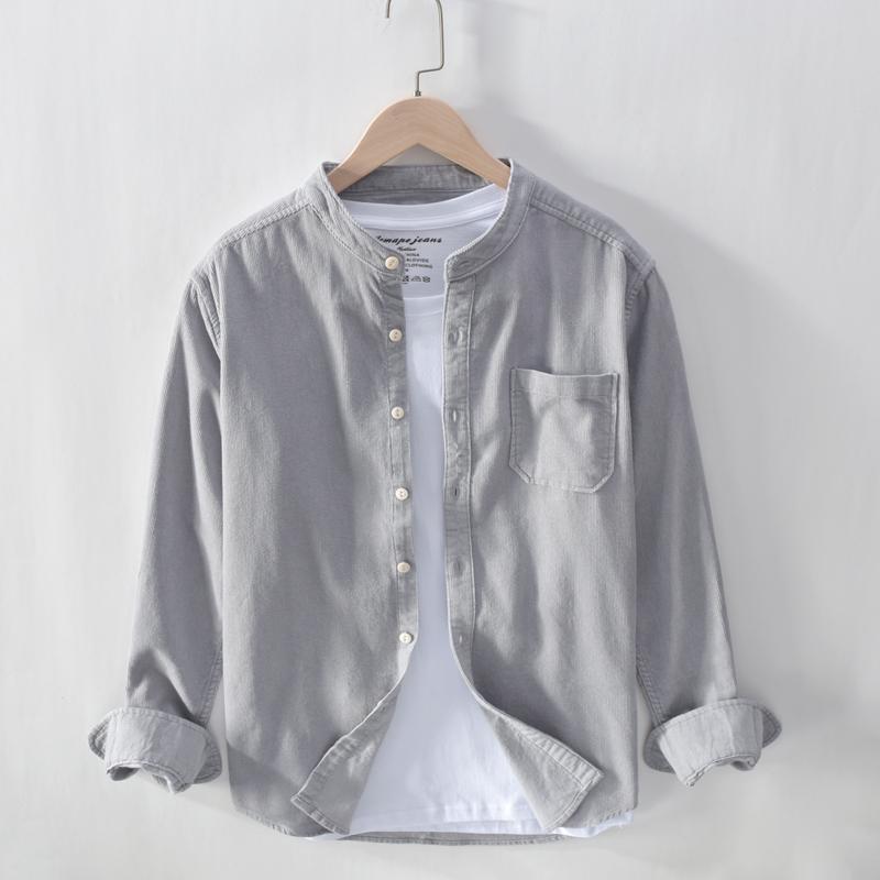 以家人之名凌霄宋威龙张新成贺子秋同款衬衣服外套灯芯绒立领衬衫