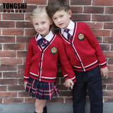 British style school uniforms spring and autumn clothes kindergarten clothes elementary and middle school students class clothes suit Korean college children's performance clothes