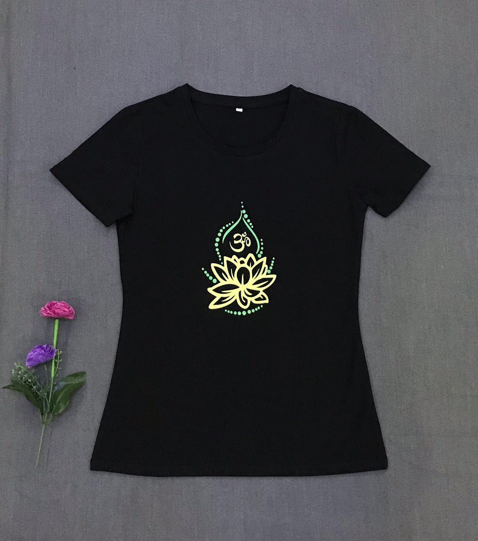 夏季新款艾扬格瑜伽服短袖T恤上衣女修身薄款 高弹性棉质吸汗性好