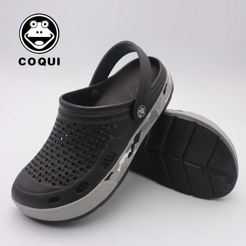 洞洞鞋男夏男沙滩鞋防滑花园鞋情侣凉拖鞋塑料凉鞋包头男凉鞋透气