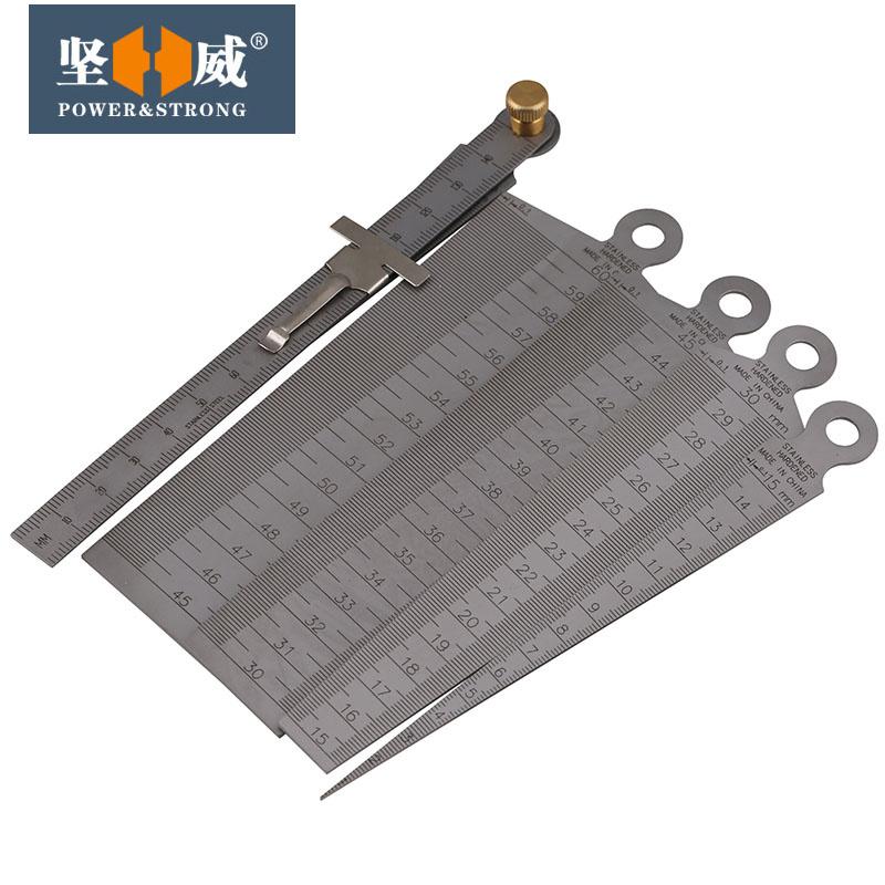 不锈钢间隙尺钢直尺楔形塞尺锥形尺孔径规内径测径规缝隙尺